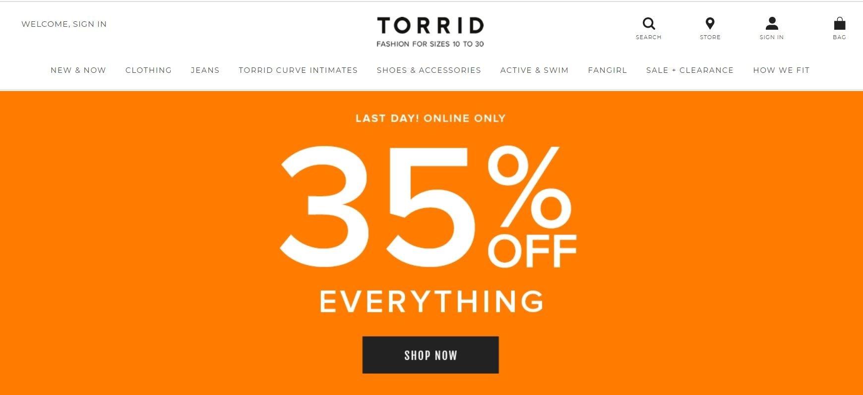 torrid- 2